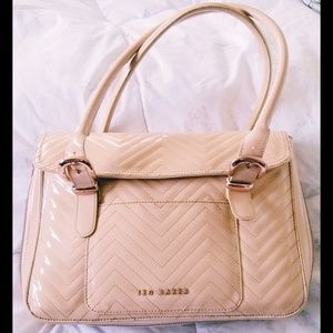 Ted Baker Patent Leather Nude Tote